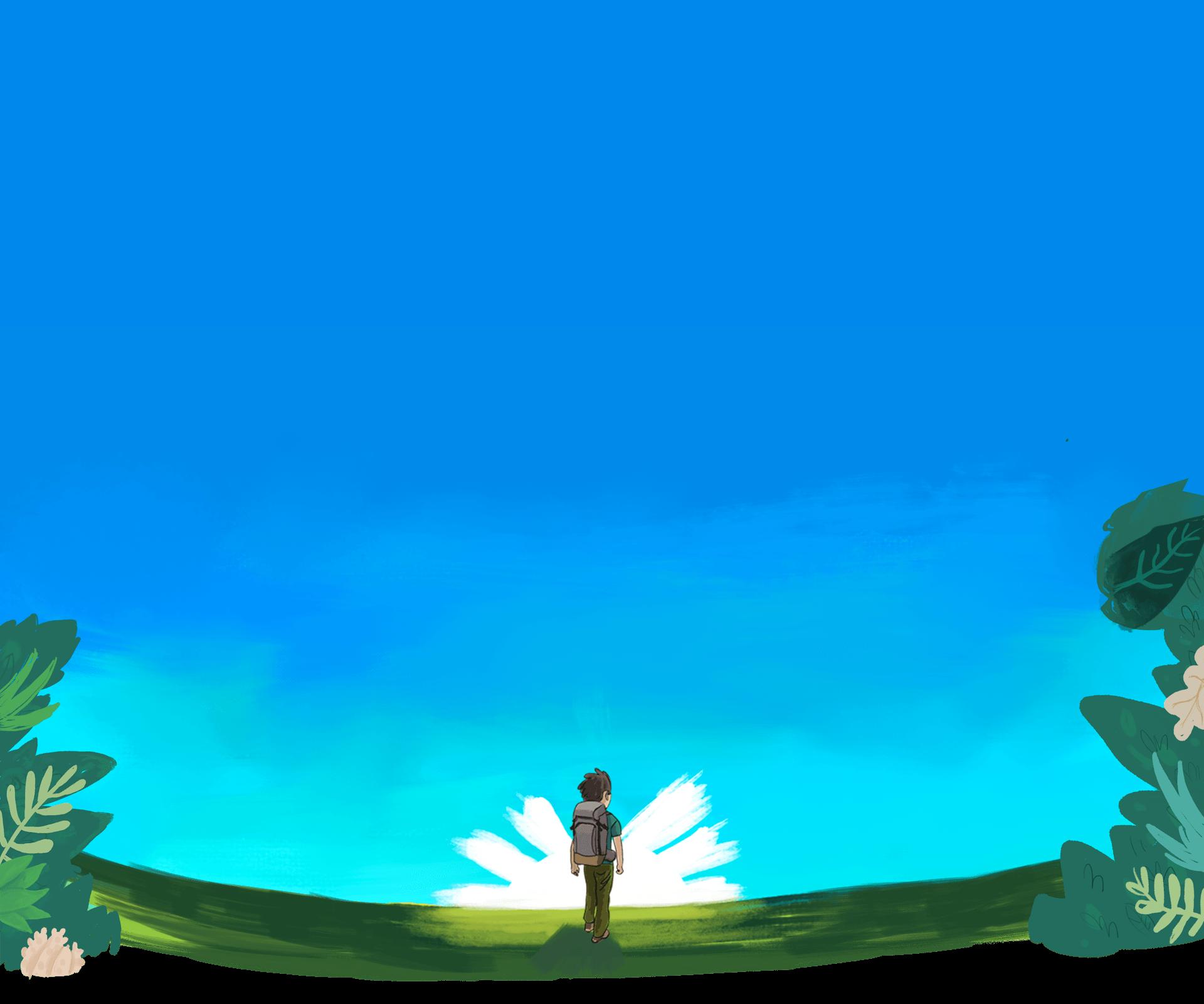 voyageur devant le soleil