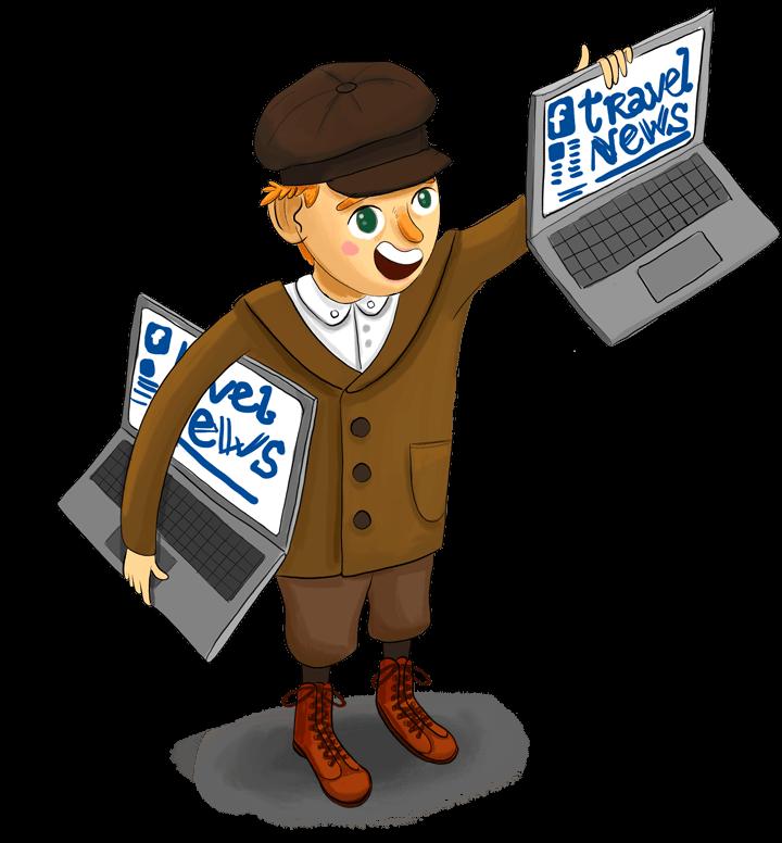 Petit vendeur de journaux à la criée