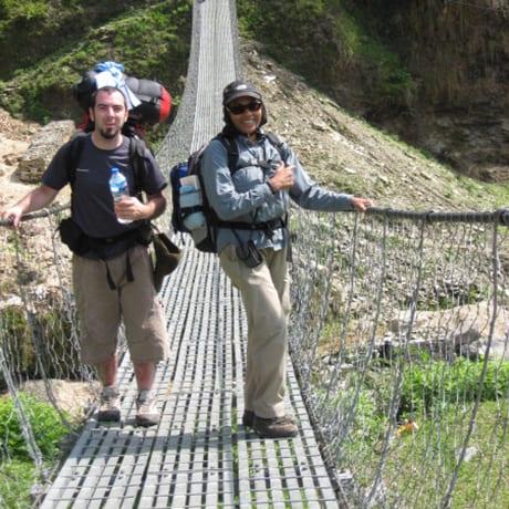 Vydia et moi au Népal