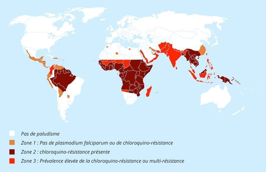 Carte paludisme résistances