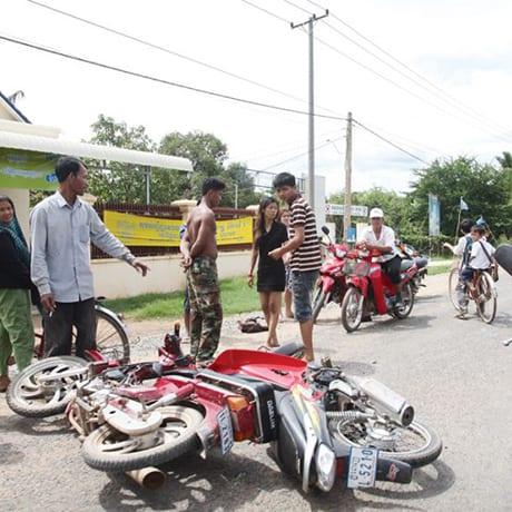 Accident de moto