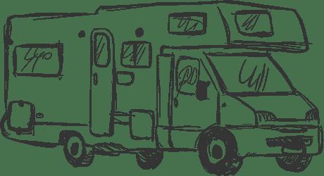 Camping car avec capucine