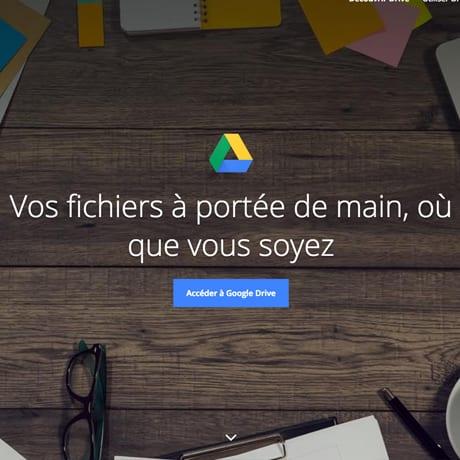 L'écran d'accueil de google drive