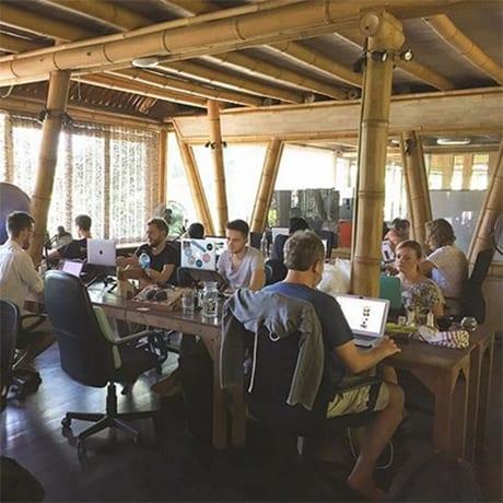 Hubud coworking à Bali