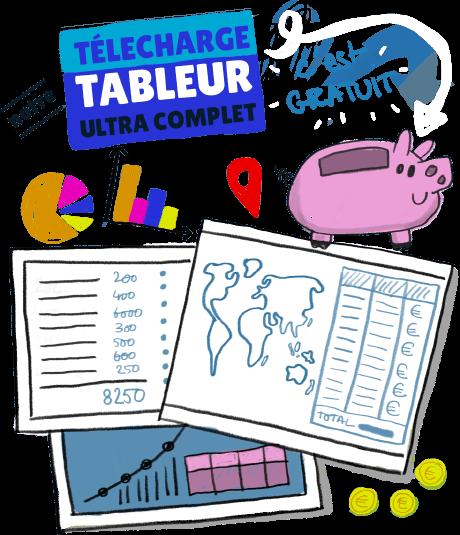 Illustration télécharger notre tableur ultra complet