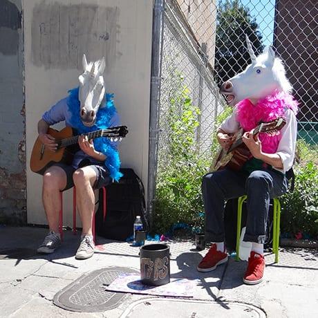 Licorne guitariste à New Orleans