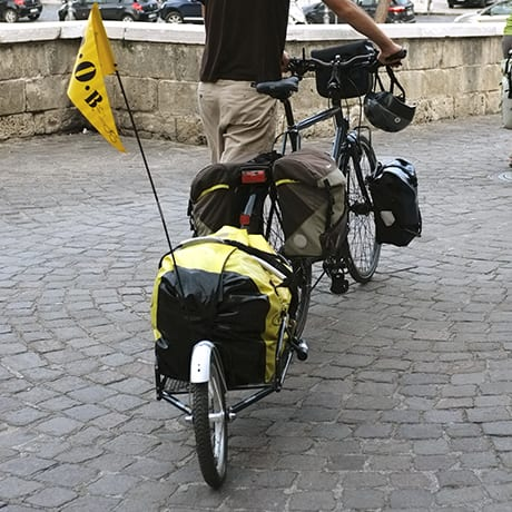 Remorque vélo mono roue