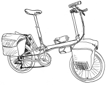 Dessin de vélo pliant