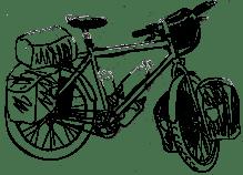 Dessin de vélo de voyage