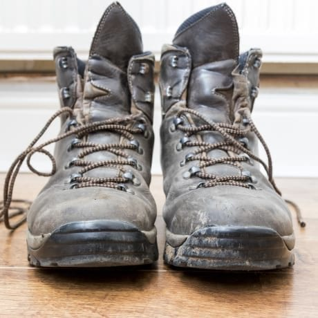 Grosse chaussures de rando