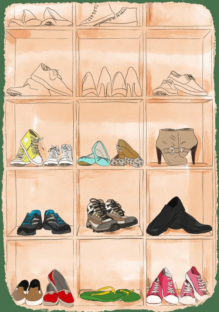 Rayon de chaussures pour partir faire le tour du monde