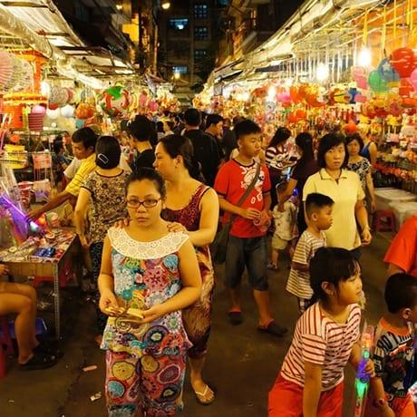 Marché à Ho Chi Minh Ville au Vietnam