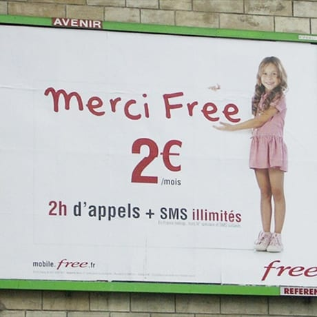 Panneau Merci Free