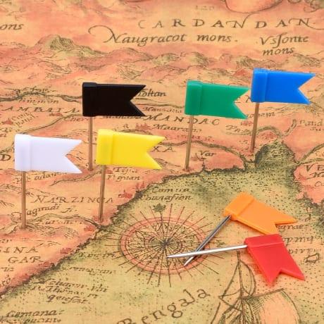 Punaises drapeaux