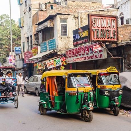 Rickshaws en Inde