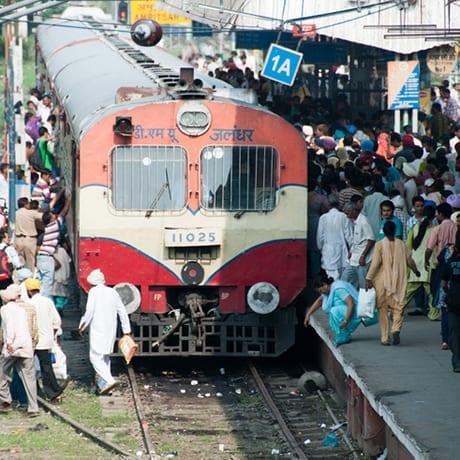 Train en Inde