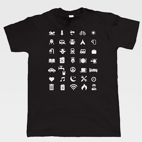 Tshirt Icones Voyage