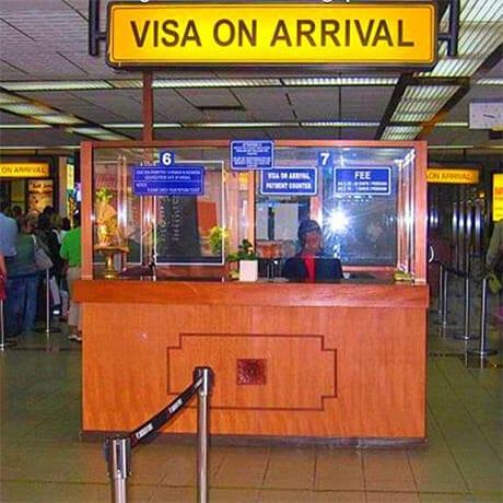 Visa à l'arrivée
