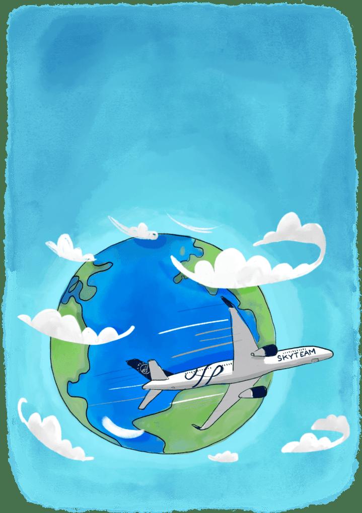 Billets tour du monde Skyteam