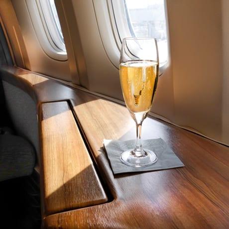 Champagne avion