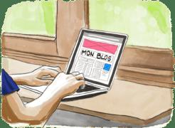 En train de créer un blog de voyage en prévision d'un tour du monde