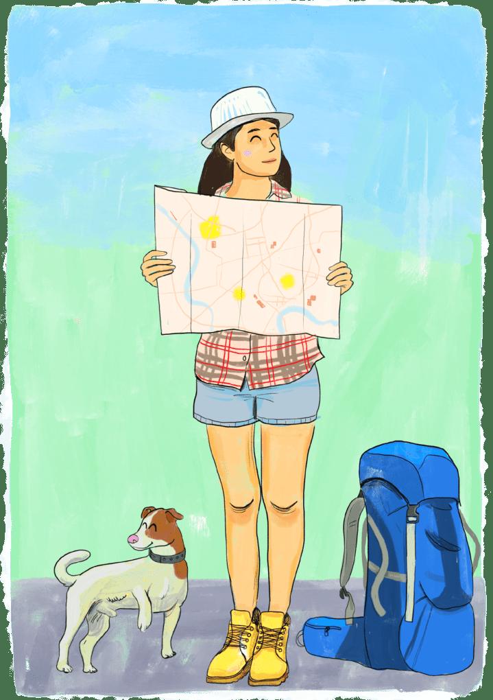 Voyager avec son chien autour du monde