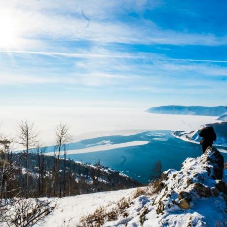 Lac Baïkal en janvier