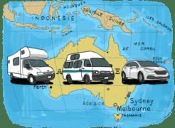 Louer un van, une voiture ou un camping car en Australie