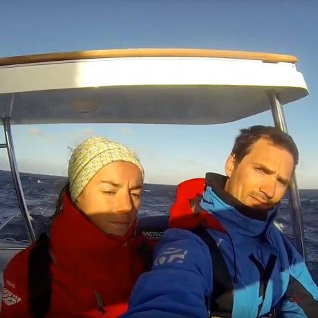 Kris et Amélie pendant la transatlantique