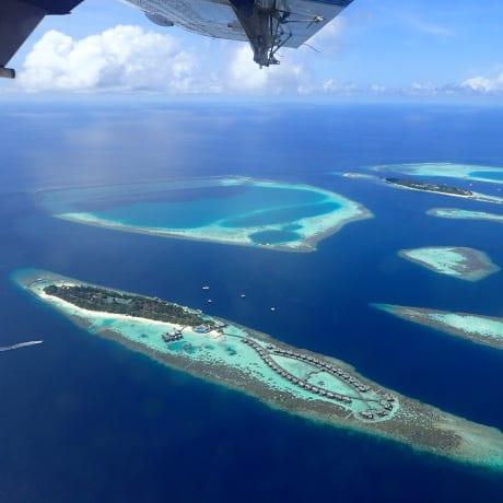Les Maldives depuis l'avion